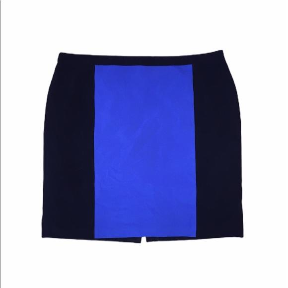 Dressbarn Black/Blue Pencil Skirt Size 22W